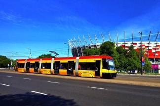 Żółto-czerwony tramwaj