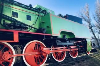 Stara zielona lokomotywa